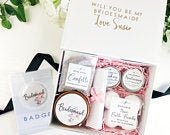 Pre filled, will you be my Bridesmaid box. Personalised bridesmaid proposal gift set.