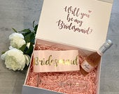 Luxury Bridesmaid proposal box Maid of Honour proposal box Personalised Will you be my Bridesmaid box Personalised Gift Box Wedding