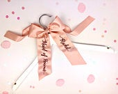 Bridesmaid Hangers Bridesmaid Proposal Personalised Wedding Hangers with Embroidered Ribbon I Do Crew