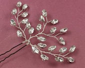 Exquisite Sparkly Bridal Hair Pins, Diamante Hair Pin Spray, Crystal Hair Pins, Hair Accessory Using Swarovski Crystal,