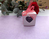 Favor Boxes Wedding Favors Wedding boxes DIY favors heart boxes sweets favors Red Ribbon Bride To Be Engaged Bridal