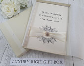 Luxury Wedding Day Congratulations Keepsake Card Handmade Personalised boxed Parents Grandparents Friends daughter son in law sister brother