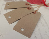 50 Buff Brown Luggage Label Tag with envelope Wedding Favour, Place Card, Wishing Tree Vintage Rustic