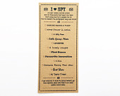 Wedding I SPY Game Qty 10 Tall Cards Brown Kraft OR White Card Trivia Game Place Setting Table Vintage ISPY Rustic