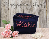 Bridesmaid Thank you Gift Wedding Personalised Bridesmaid Gift Maid of Honour Gift Unique Gift for Bridal Party, Cosmetic Bags