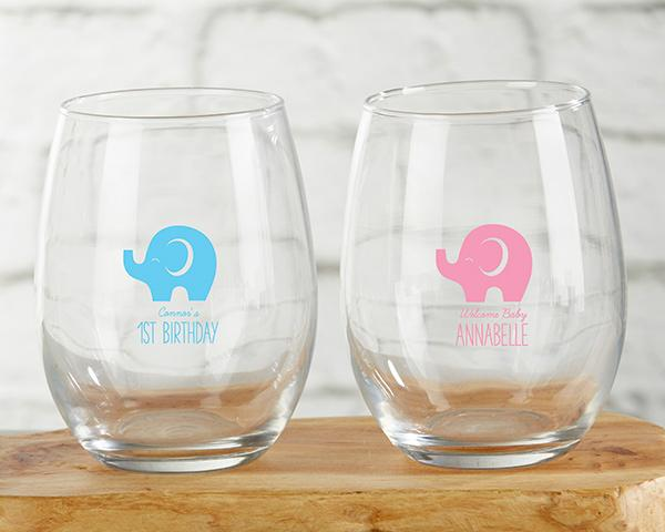 Personalized Little Peanut 9 oz. Stemless Wine Glass