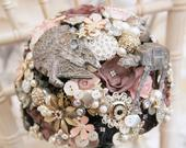 SciFi Star space wars inspired wedding Bouquet, light up, any colour, alternative, brooch bouquet, flower posey wedding