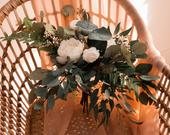 Boho Greenery Bouquet, Dried Eucalyptus Bouquet, Greenery Crown, bridal bouquet, wedding bouquet, woodland bouquet