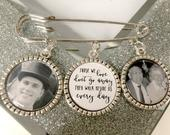 Memorial Memory remembrance photo charm kilt pin bouquet charm groom boutonniere best man personalised those we love dont go away wedding