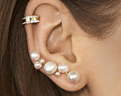 Lovely Pearl Bridal Cluster Earrings For a Simple Wedding PIA