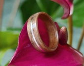 Walnut and sterling silver ring Wooden ring Bent wood ring Natural ring