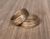 Walnut and copper ring Wooden ring Bent wood ring Natural ring