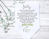 Personalised Father Of The Bride Groom Handkerchief Gift Wedding Present Keepsake Tissues Groom Box Dad Daddy Gift Fathers Day