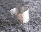 Sterling silver hammered band ring 925 handmade to order 12mm band
