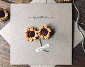 Personalised Sunflower Wedding / Engagement / Anniversary Card