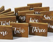 Wedding table numbers, free standing table names, custom made wooden signs,wedding table names, rustic wood signs, wedding table decoration