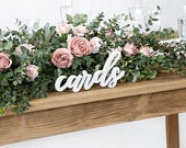 White Cards Wooden Sign, Wedding Decorations, Wedding Table Signs, Wooden Wedding Decorations, Rustic Table Decor, Wedding Signs