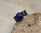 Mens Lapis Lazuli ring. Reiki jewelry uk. September birthstone. Adjustable ring. Empowered crystals