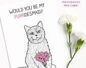 Personalised Funny Bridesmaid Card Bride Gift Maid of Honor Best Friends Be my bridesmaid