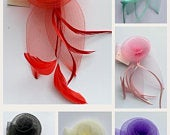 Stunning Flower Hair Fascinator Clip Corsage pin Wedding Party