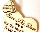 Rustic Save The Date Wood Wooden Wedding Anniversary Birthday