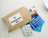 Hangover Kit Rustic Kraft Favor Boxes, diy Party Favors