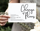 Save the New Date Announcement, Change the Date Postcard, Magnet, PRINTED Change the Date, Minimal Wedding Postponement, Change the Date,DIY