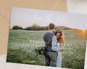 Elegant Save the Date Template with Picture, Downloadable Printable Save the Dates, 100% Editable Text, Instant Download, DIY, Templett