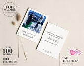 Wedding Save the Dates, Photo Save the Date Cards, Cheap Save the Dates, Personalised Save the Date Card, Elegant, Simple