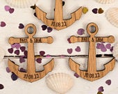 Wedding Favors Anchor Favors Beach Decor Wooden decor Rustic Wedding Favors Wedding Table Decorations 07TD