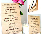 Wooden engraved wedding sign, those we love, wedding plaque, memorial sign, various sizes