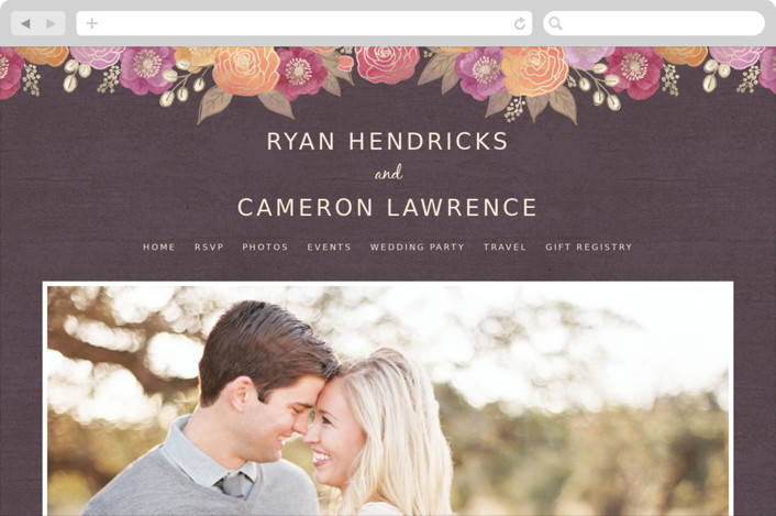 Autumn Florals Wedding Websites