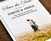 Timeless Photograph Wedding Save the Date card or flexible save the date magnet. On luxury textured card. Supply your own photo.