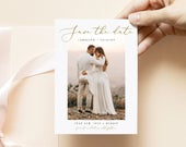 Photo Save the Date Template, Download Photo, Printable Save the Date, 100% Editable Text, Instant Download, DIY, Templett