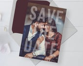 Printable Save the Date with Photo, DIY Instant Download, Photo Save the Date Digital Download, Print at home