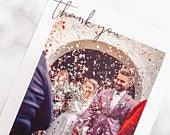 Wedding Thank You Cards With Photo, Postcard, Personalised Photo with envelopes