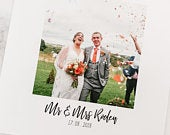 Wedding Thank You Cards With Photo, Folded, Personalised Photo with envelopes