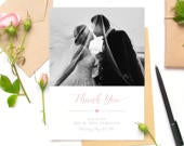 Wedding Snap Shot Guest Thank You Appreciation Greeting Card Personalised Black and White, Photo, Photograph, Thanks to Guests, Bulk Buy