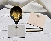 Shell Notecards / Thank You Cards / Hello Cards / Notecards / Wedding Thank You Cards / Gold Shell / Greeting Cards / Postcards