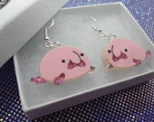 Blobfish earrings,blobfish jewelry,Acrylic earrings,Blobfish, earrings,acrylic jewelry,fun earrings,marine earrings,