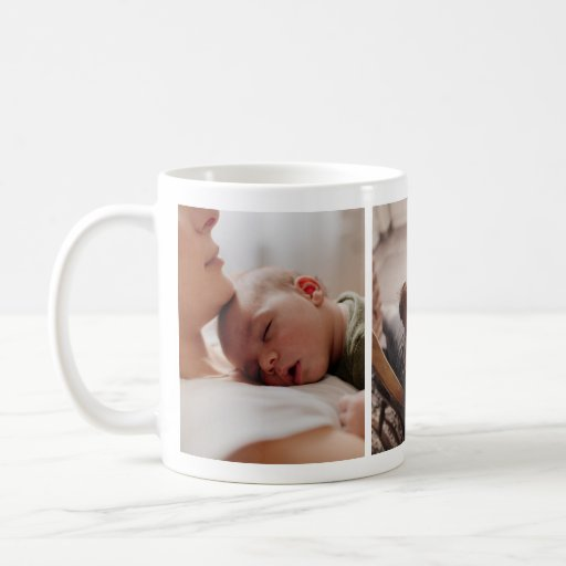 Newborn Baby with Mother Photo Collage Mug