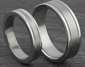 4mm or 6mm Stainless Steel Two Tone Silver Womens Mens Comfort Fit Matching Wedding Ring Promise, Friendship Band 15 Sizes Available