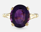 18ct Gold 4.20ct Amethyst Solitaire Ring