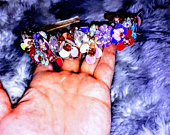 BEAUTIFUL Handcrafted unique boho multicoloured sequin flower jewels, precious keishi pearls and gemstone headband crown