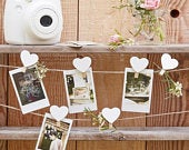 Wooden heart pegs an string set// Rustic Country//Wedding Reception Decorations // Wedding decoration// photo boot// wedding ideas
