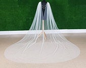 Ivory Bridal Cape with 2 layer bridal back chain with Veil drape for wedding dress gown with brooch and bridal backdrop back chain backdrape