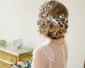 Vintage Luxe Hair Comb, Available in Silver or Gold, Bridal Accessories, Bridal Hair, Bridesmaid Hair