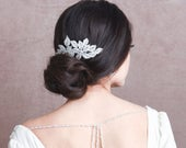 Vintage Sparkle Hair Comb, Available in Silver, Bridal Accessories, Bridal Hair, Bridesmaid Hair, Crystal Bridal Comb