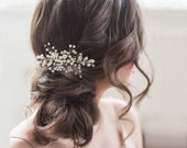 Eternally Pearl Hair Comb, Available in Silver, Rose Gold or Gold, Bridal Accessories, Bridal Hair, Bridesmaid Hair, Bridal Comb