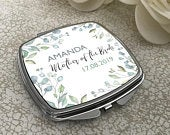 Personalised MOTHER of the BRIDE compact mirror wedding gift, floral handbag mirror CARMF1